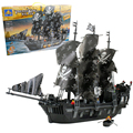 QWZ 1184 unids Building Block Sets Ship Pirates King 3D de Construcción de Ladrillo Juguetes Pasatiempos Educativo Kids Para Niños Regalos