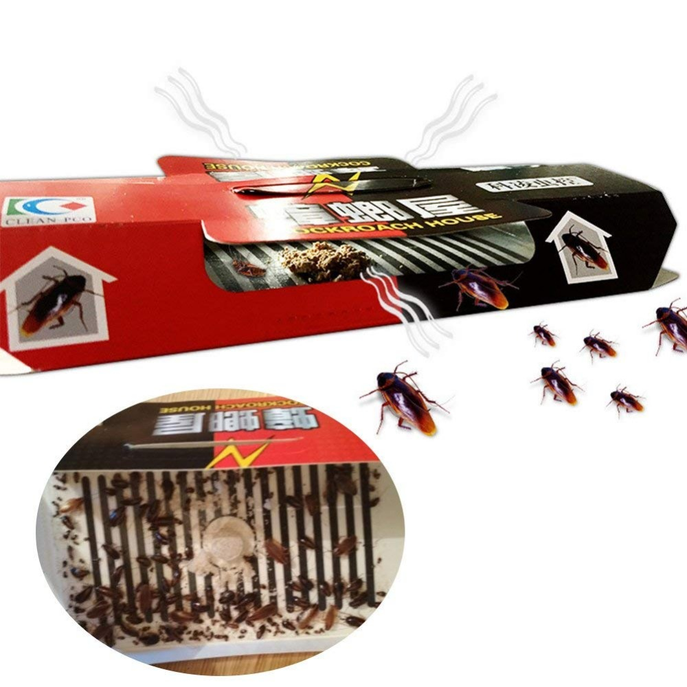 30Pcs Cockroach House Cockroach Trap Repellent Killing Bait Strong Sticky Catcher Traps Insect Pest Repeller Eco- Friendly