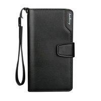 Baellerry 2017 Luxury Brand Men Wallets Long Men Purse Wallet Male Clutch Leather Zipper Wallet Men