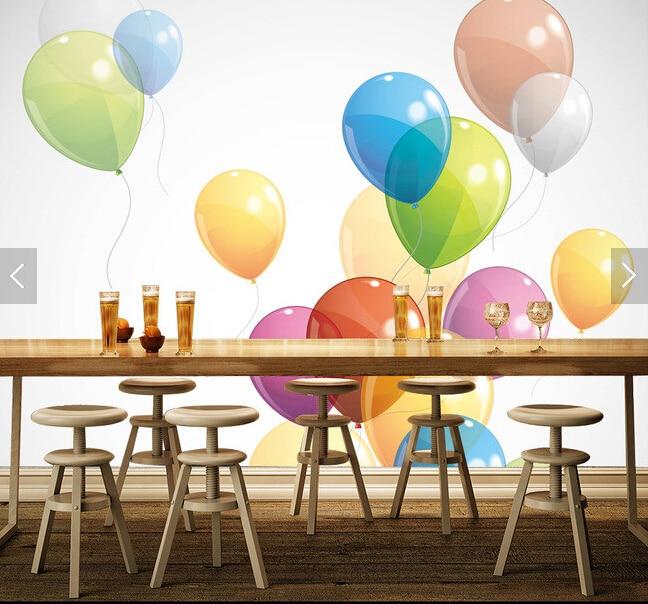 Custom children's wallpaper, color balloon mural for children's room bedroom restaurant background wall waterproof wallpaper брюки спортивные для мальчика button blue цвет бордовый 217bbbc56031600 размер 128 8 лет