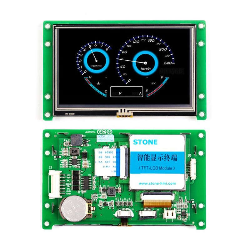 STONE 4.3 Inch Capacitive Touch Screen Module With TTL/RS232/RS485 Interface And CPU