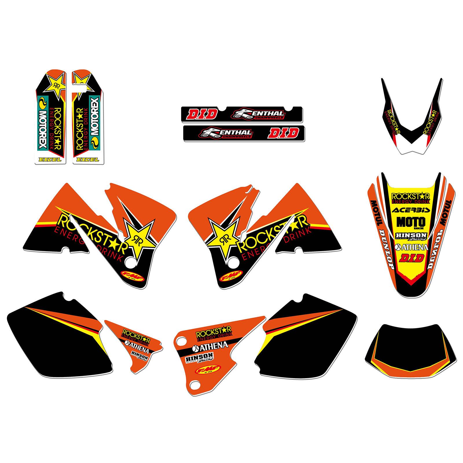 NEW STAR TEAM GRAPHICS BACKGROUNDS DECALS STICKERS FIT FOR KTM MXC 200 300 EXC 250 300
