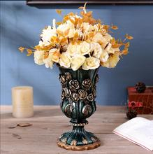 Creative retro vase luxury living room ornaments home decor dried flower TV cabinet