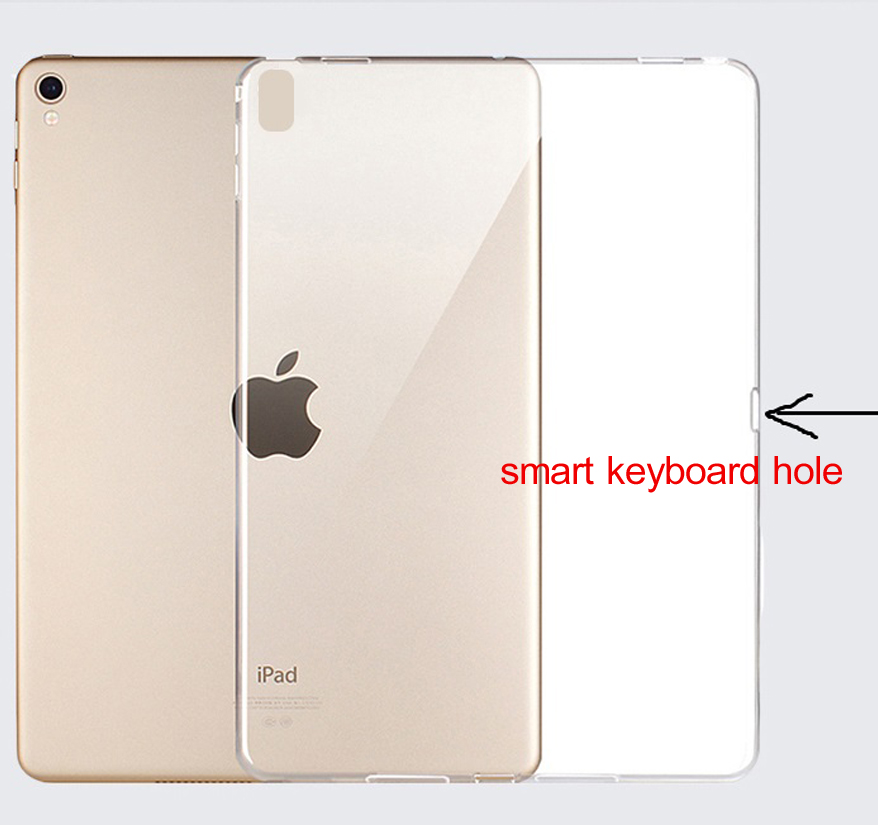 Tablet apple Ipad pro 10.5 2017 Case Slim Crystal Clear TPU Silikon - Planşet aksesuarları - Fotoqrafiya 2