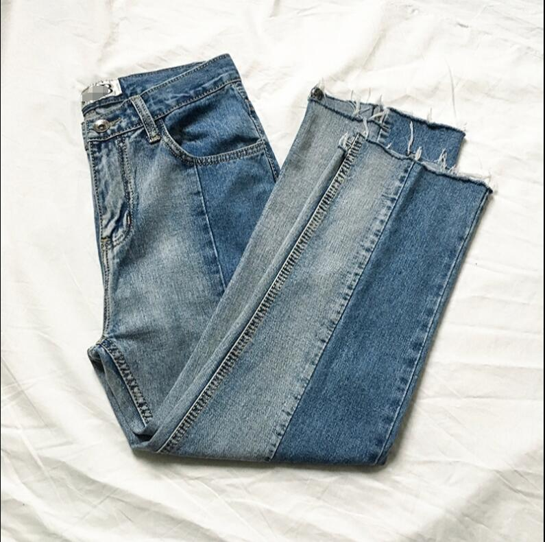 Made Korean version of the jeans men and young summer loose straight nine-cent edge pants. 1