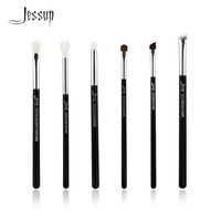 Jessup Black Silver Professional Makeup Brushes Set Make Up Brush Tools Kit Eye Shader Liner Natural