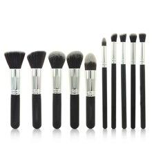 Superior Professional Soft Cosmetic Make up Brush Set Woman's Toiletry Kit 10 Pcs/kit makeup make-up brushes kabuki brush tool