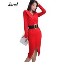2019 Spring Womens Elegant Office dress red Pencil Bodycon Dress Business OL Casual dress Wear to Work Women Dresses
