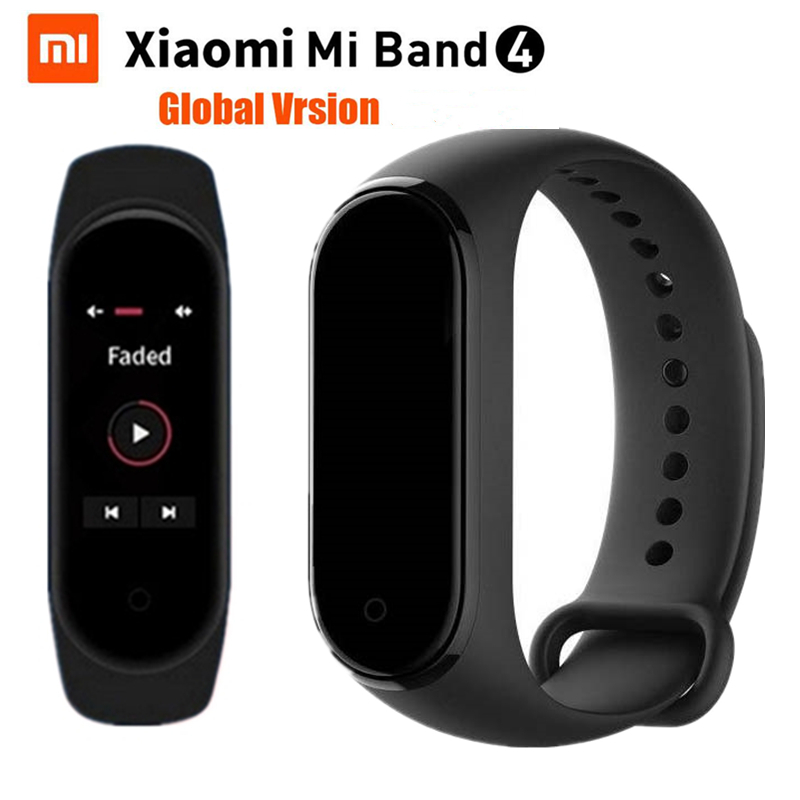 "Xiaomi Mi Band 4 Fitness Bracelet 5ATM Passometer Sport Smart Band 0.95"" Color AMOLED Screen Mi Band 3 Mi Band 4 Global Version"