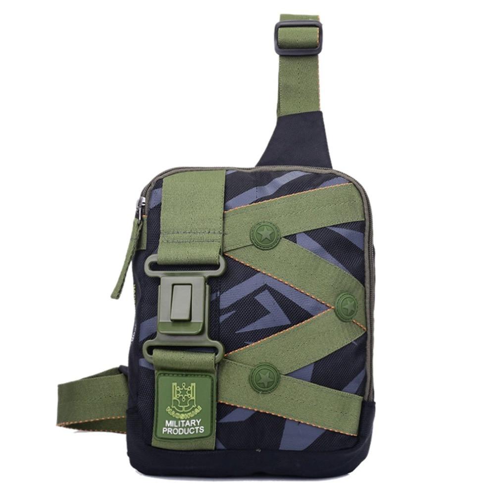 New Men Oxford Shoulder Messenger Cross Body Bag Military Travel Sling Chest Back Bag vintage multi pocket 700d oxford cloth messenger shoulder back chest bag camo green