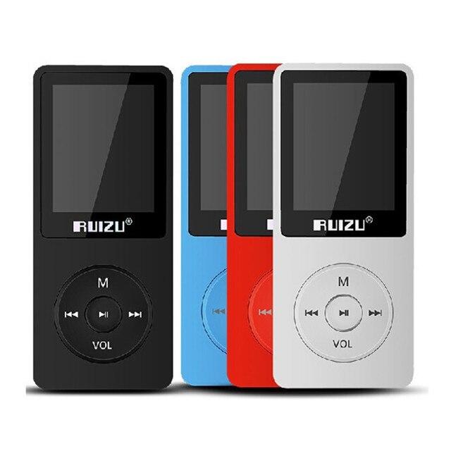 Original RUIZU X02 MP3 8 GB Untrathin Protable Mp3 Player 80 horas Jogar Music Player Com Tela de 1.8 polegadas/FM/E-Book/Relógio/Gravador