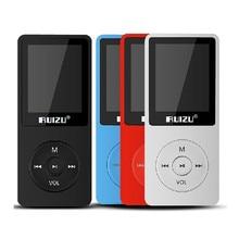 Original RUIZU X02 MP3 8 GB Reproductor de Mp3 Protable Untrathin 80 horas de Juego Reproductor de Música Con Pantalla de 1.8 pulgadas/FM/E-Book/Reloj/Grabador