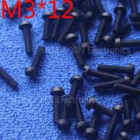 M3*12 12mm 1 pcs black Round Head nylon Screw plastic screw Insulation Screw brand new RoHS compliant PC/board DIY hobby etc