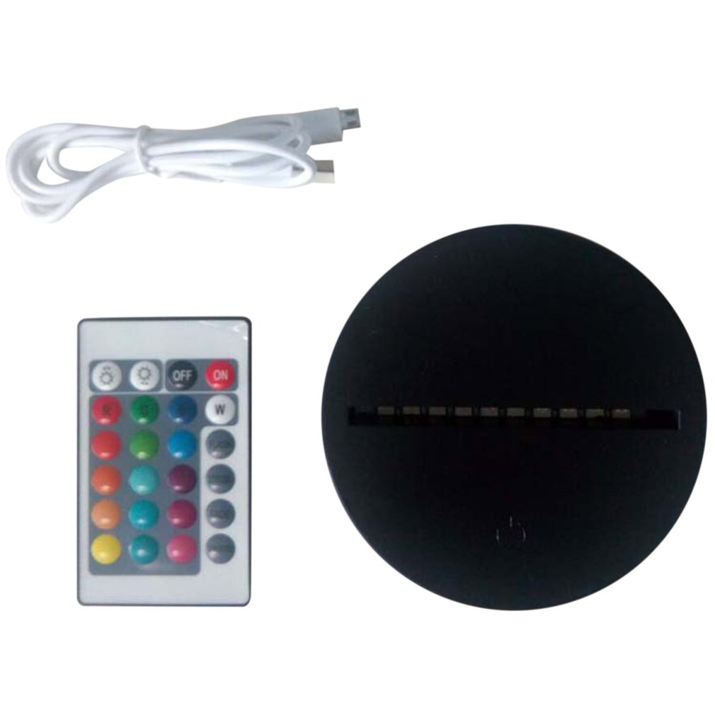 LED Lamp Bases For 3D Illusion Night Light 7 Colors Touch Switch Remote Control Replacement Base For 3D Table Desk Lamps