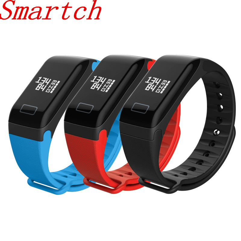 Smartch Fitness Tracker Wristband Heart Rate Monitor Smart Band F1 Smartband Blood Pressure With Pedometer Bracelet