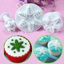 3 шт торт-Снежинка украшения помадка плунжеры форма печенье инструменты форма для торта инструмент кухонный гаджет креативный Декор# EW