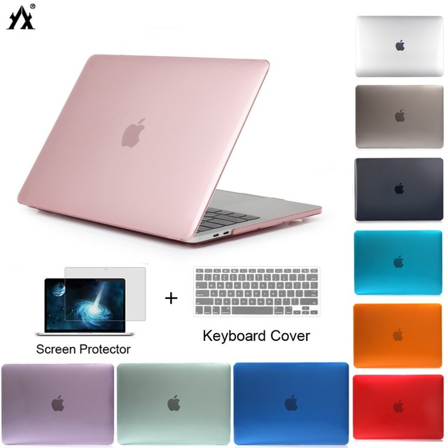 Laptop Case For Apple macbook Air Pro Retina 11 12 13 15 inch Touch Bar for macbook New Air 13 A1932 2018 cover +Keyboard Cover