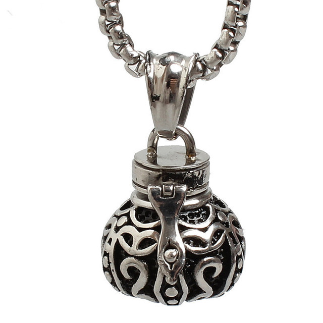 Lace Jar Urn Necklace