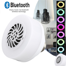LED Music Bulb Speaker Loudspeaker Audio Gift Lamp RGB Wireless Smart Mini Bluetooth Light KTV Home Bar