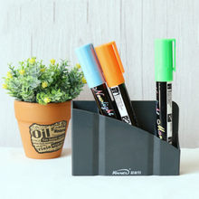 Magnetic Plastic Organizer Storage Box For Pens Blackboard Desk Things Storage Boxes Home Organization(China)