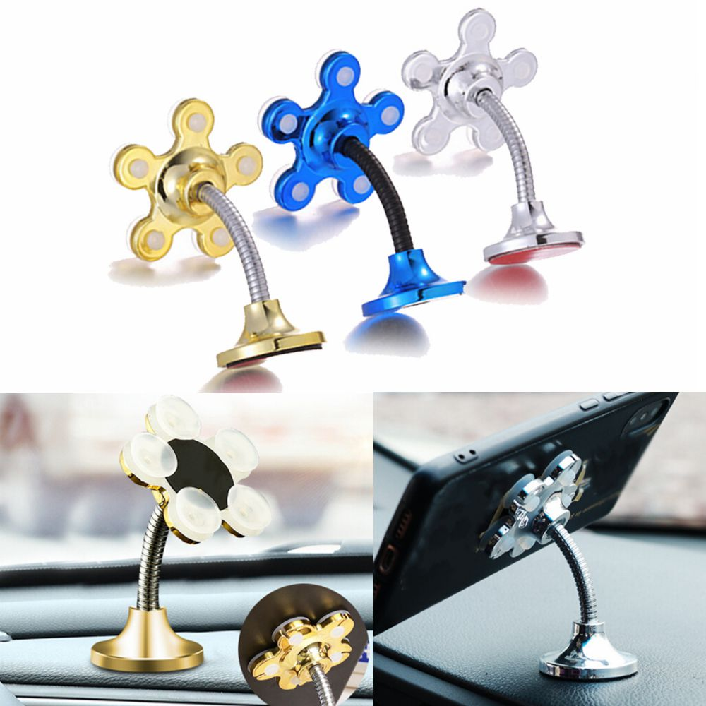 Buy 1PCS Car Navigation Bracket Smartphone Tablets Holder Sucker Stand Phone Holder Rotatable Magic Suction Cup Cell Phone Holder for only 1.75 USD