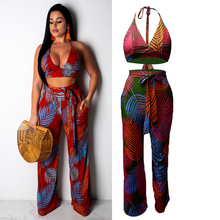 Sexy Two Piece Club Outfits for Women Crop Short Top and Pants Suits Noen Tracksuit Sportswear Co-ord Set 2019 Summer Clothing sexy self tie halter open back crop top and elastic waist hotpants co ord page 1