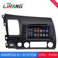 LJHANG Android 8,1 DVD плеер автомобиля 7 дюймов для Honda Civic 2005 2006 2007 2008 2009 2010 2011 оперативная память gps Autoaudio стереонаушники BT