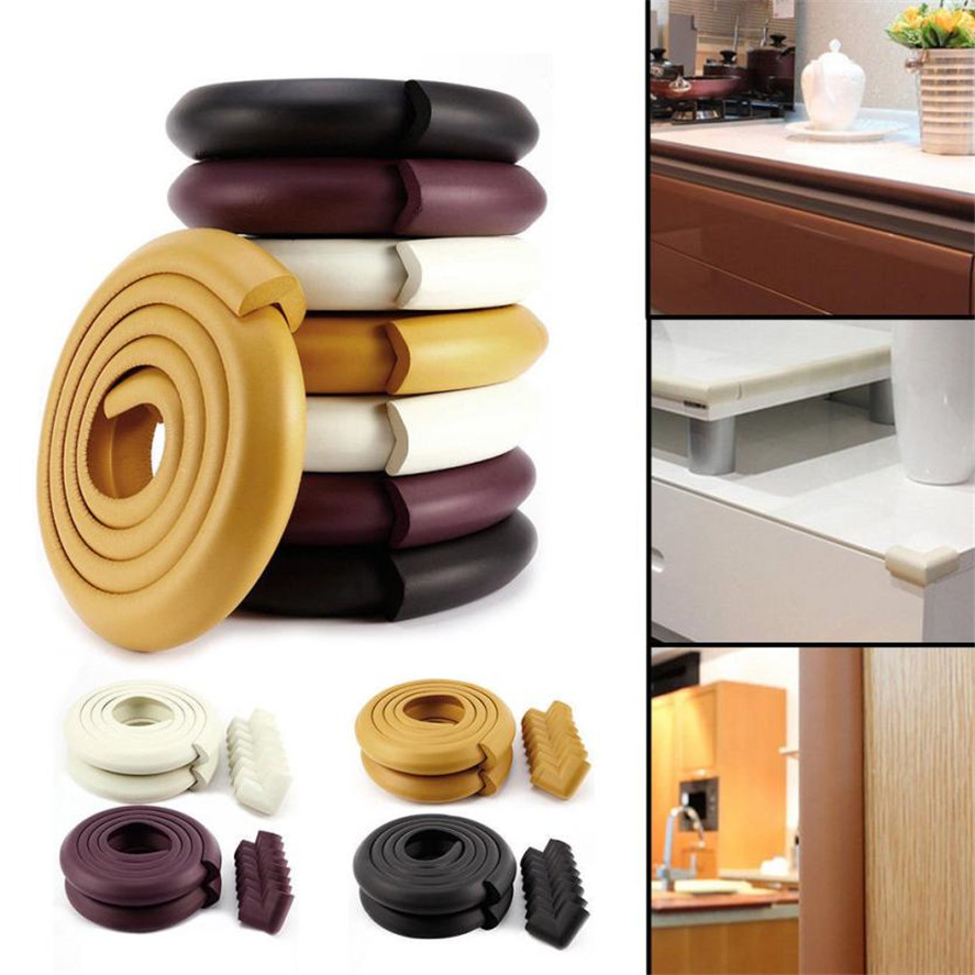 New Bumper Strip 2M Baby Safety L-shaped Table Edge Corner Guard Cushion Anti-collision Bumper Strip  Furniture Accessories  35