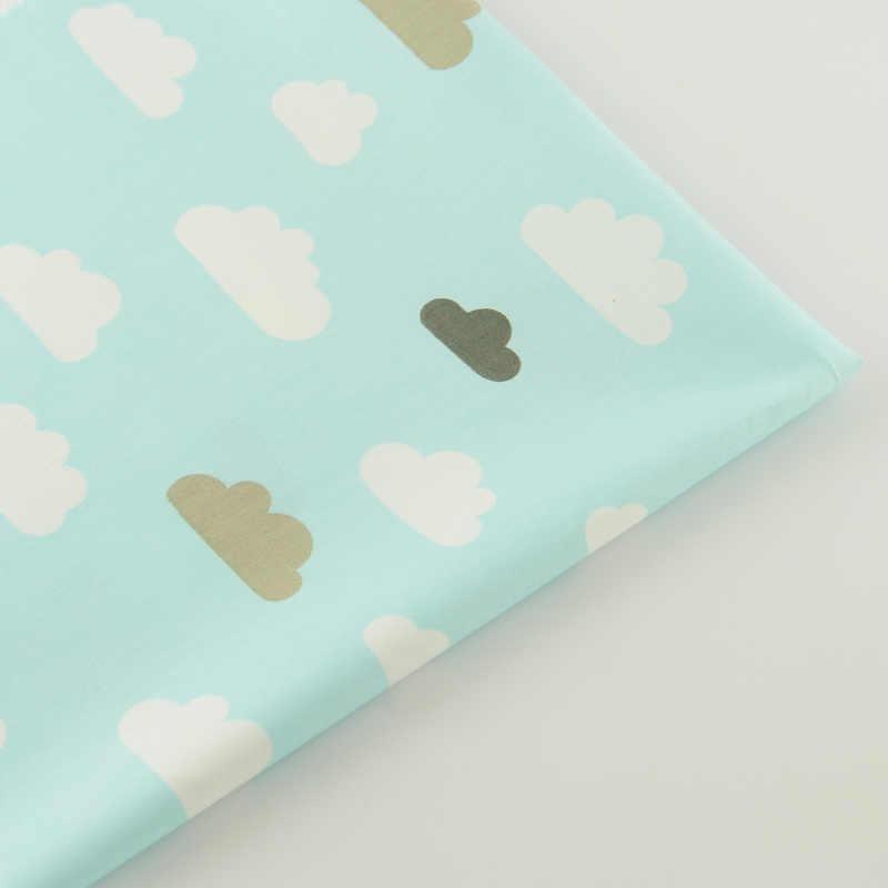 Belle Couleur Clous Conceptions Bleu Clair Coton Tissu Sergé Scrapbooking Textile de Maison Courtepointe Patchwork Bébé Literie Telas CM
