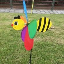 Colorido 3D insecto Animal grande mariquita y abeja molino de viento Spinner Whirligig patio jardín exteriores juguetes clásicos