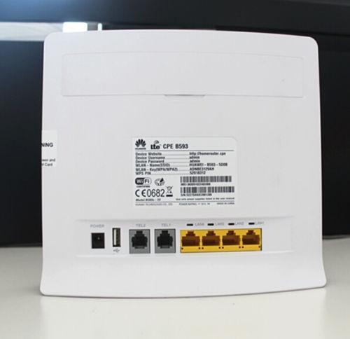 Huawei B593s-22 LTE 4G Wireless gateway router+ 2pcs antenna of B593