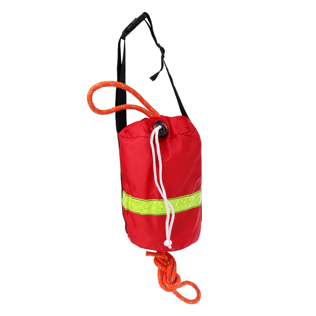 1Pcs Kayak Reflective Rescue Line Throwline Water Safe Throw Bag Floating Rope Watersports Boating Rafting Equipment 16m/21m