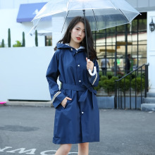 Thicken Raincoat Women Waterproof Long With Belt,Windproof Rain Coat Ponchos Jackets Female  Chubasqueros Impermeables