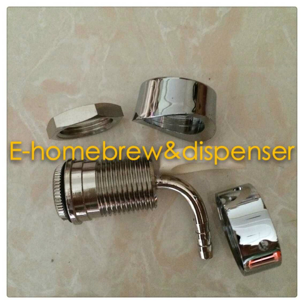 Beer Tap Kegerator Faucet Draft Shank With Elbow 1 7/8\