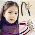 Novo 2016 venda Quente de alta qualidade da menina coroa de liga com strass coroa cabelo banda crianças acessórios de cabelo