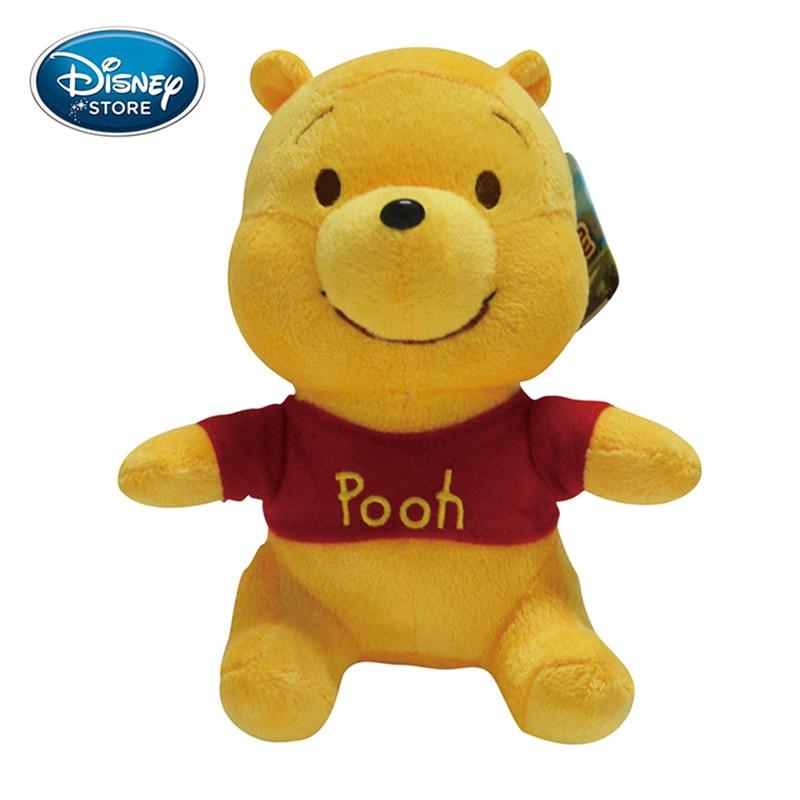 Disney Original Plush Toys Winnie The Pooh Mickey Mouse Minnie Doll Stitch Baby Stuffed Doll Birthday Gifts For Children