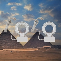 2 PCS 10W Illuminator 70mm Inner Diameter Fluorescent Ring Lamp With 110V Or 220V Adapter For