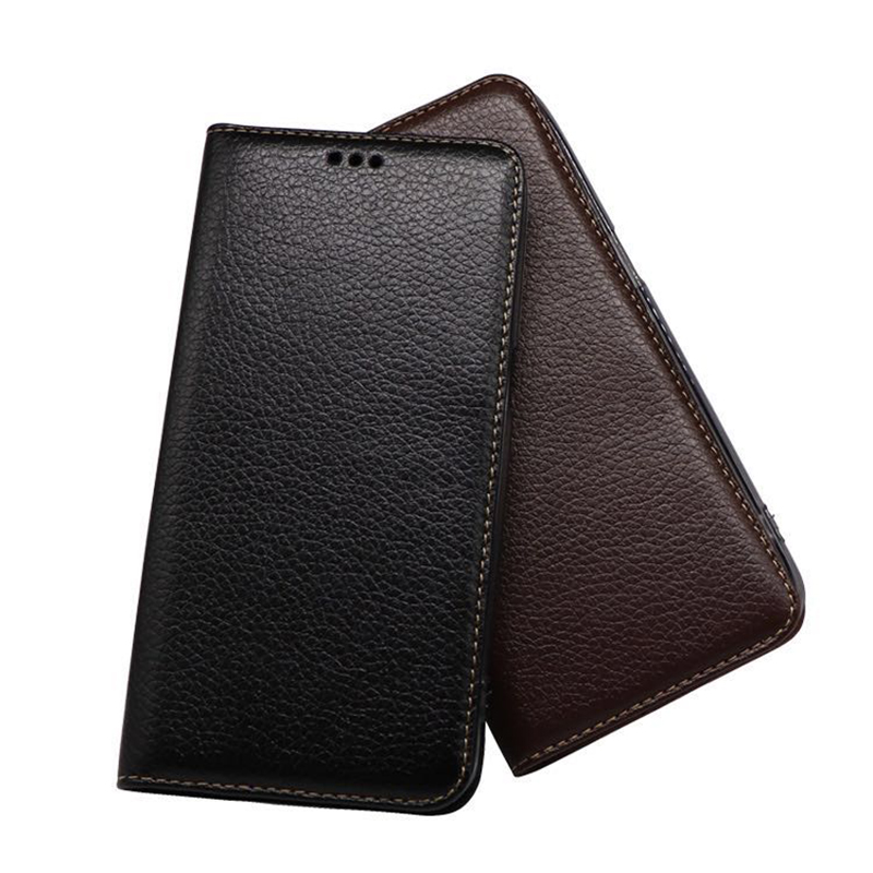 Custom Microfiber Leather Cover for Xiaomi6 5.15inch Case 2017 New Black Brown Color Flip Phone Shell Bag for Xiaomi 6 Mi6 M6