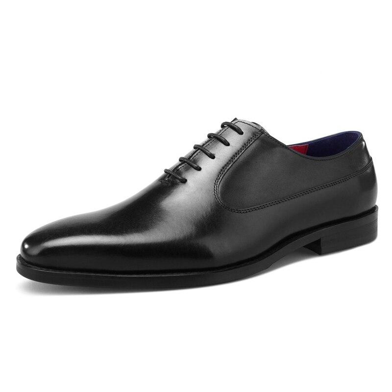 purple Encaje coffee Genuino Zapatos Black 2019 De Hombres Formal Mens Cuero Negocios brown Boda Oxfords Desai Marrón Vestido qAw1a76