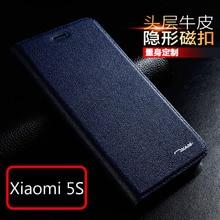 New for Xiaomi Mi5s Mi 5S Original Tscase Brand Genuine Leather Flip Luxury Phone Cover Case for Xiaomi 5S Natural cow skin