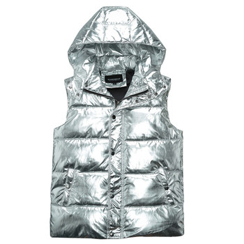 8a83014ce MORUANCLE de los hombres de moda brillante chalecos de algodón forrado  térmica gruesa chaleco para hombre