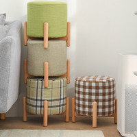 Small Stool Living Room Home Fabric Stools Children Solid Wood Sofa Stool Fashion Creative Shoes Bench Ottoman Taburete