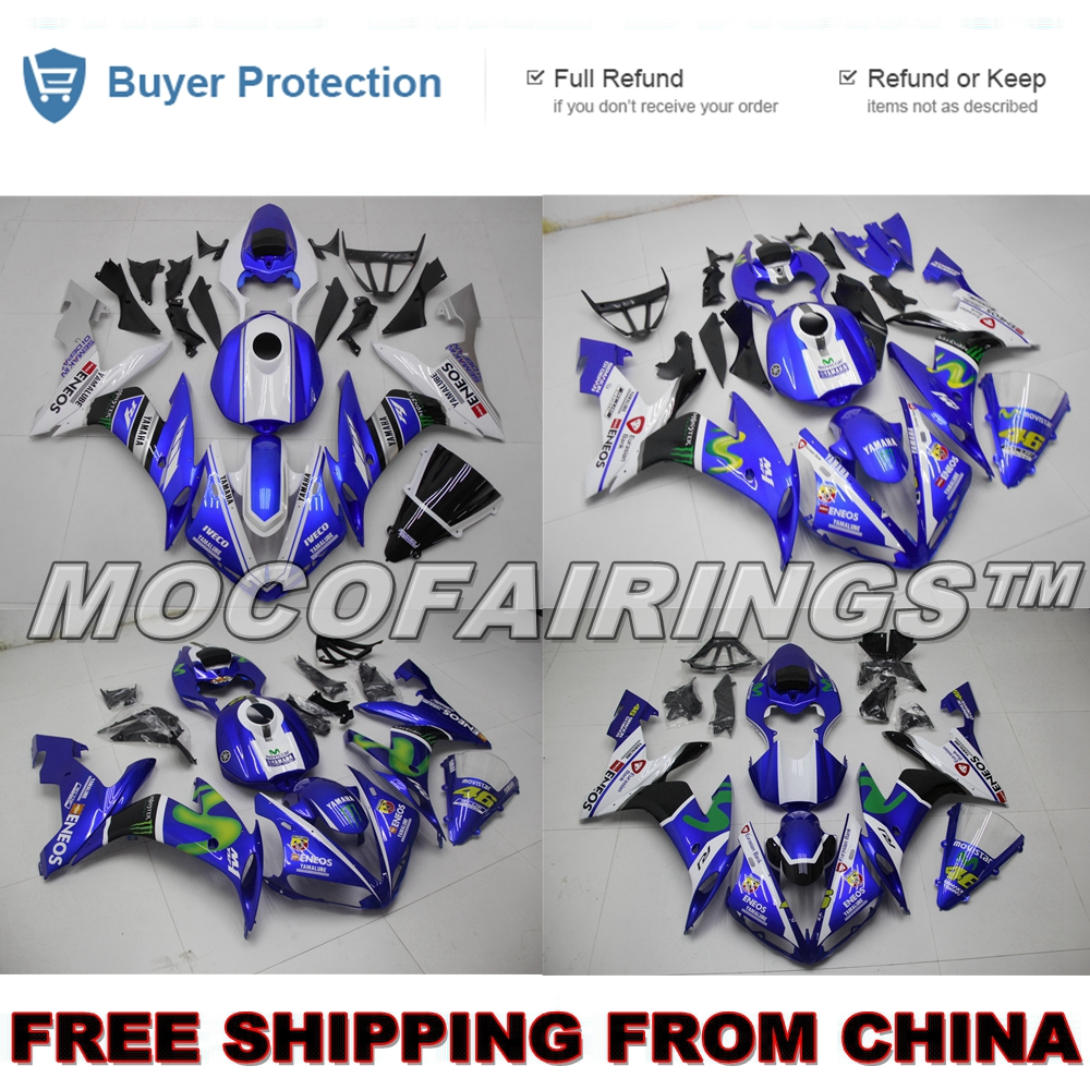 ROSSI VR46 ABS Fairing For Yamaha YZF R1 2004 2005 2006 YZF-R1 04 05 06 Motorcycle Injection Fairings Kits Bodywork MOVISTAR blue moto fairing kit for yamaha yzf1000 yzf 1000 r1 yzf r1 2000 2001 00 01 fairings custom made motorcycle bodywork injection