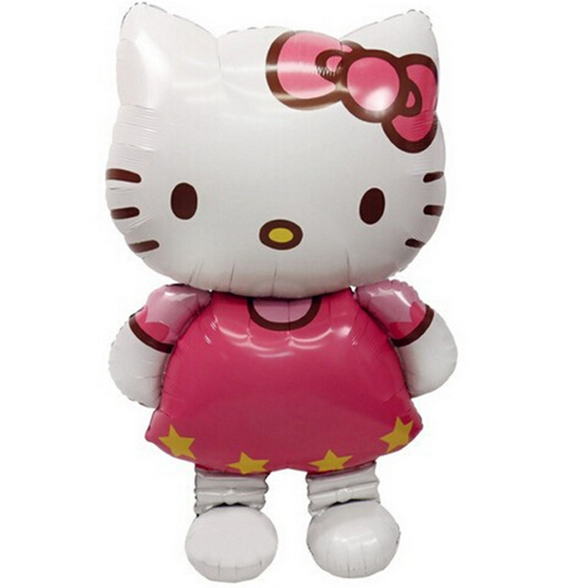 Large Size Hello Kitty Cat Foil Balloons Cartoon Birthday Decoration Wedding Party inflatable balloons Classic Toys 116x68cm