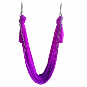 Image 4 - 20 colors choice 5m/sets  Aerial Flying Anti gravity Yoga Hammock Swing  Yoga body building workout fitness equipment freedrop