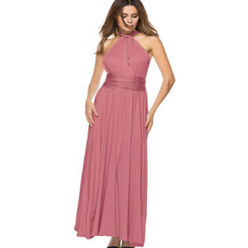 נשים Multiway לעטוף להמרה שמלת מקסי Boho תחבושת ארוך קיץ שמלת מסיבת השושבינות אינפיניטי Robe לונג Femme Vestidos