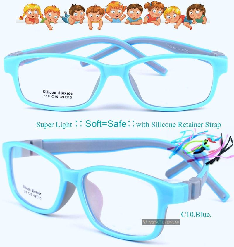 56e9bd5c67 IVSTA 519 Silicone Dioxide Girls Eyeglasses 49 15 TR90 Kids ...