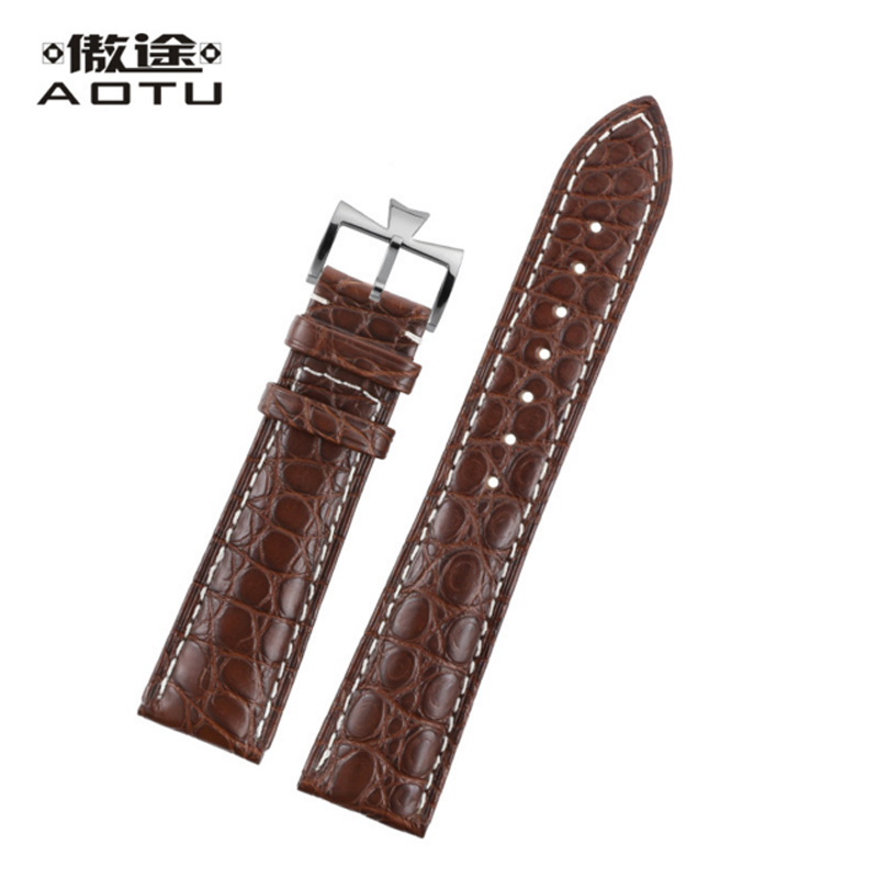 Genuine Leather Watchbands For Vacheron Constantin Patrimony Series Women Watches Strap Crocodile Top Quality Men Watch Band women crocodile leather watch strap for vacheron constantin melisa longines men genuine leather bracelet watchband montre