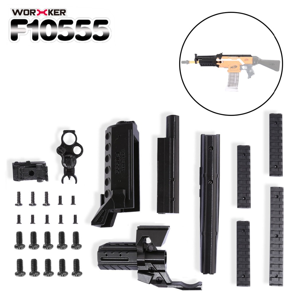 Worker Professional Toy Accessories f10555 3D Printing NO.105 Series Modified Kit for Nerf Stryfe(Type-A) - Black worker f10555 no 152 stf type b set professional toy gun accessories for nerf stryfe black