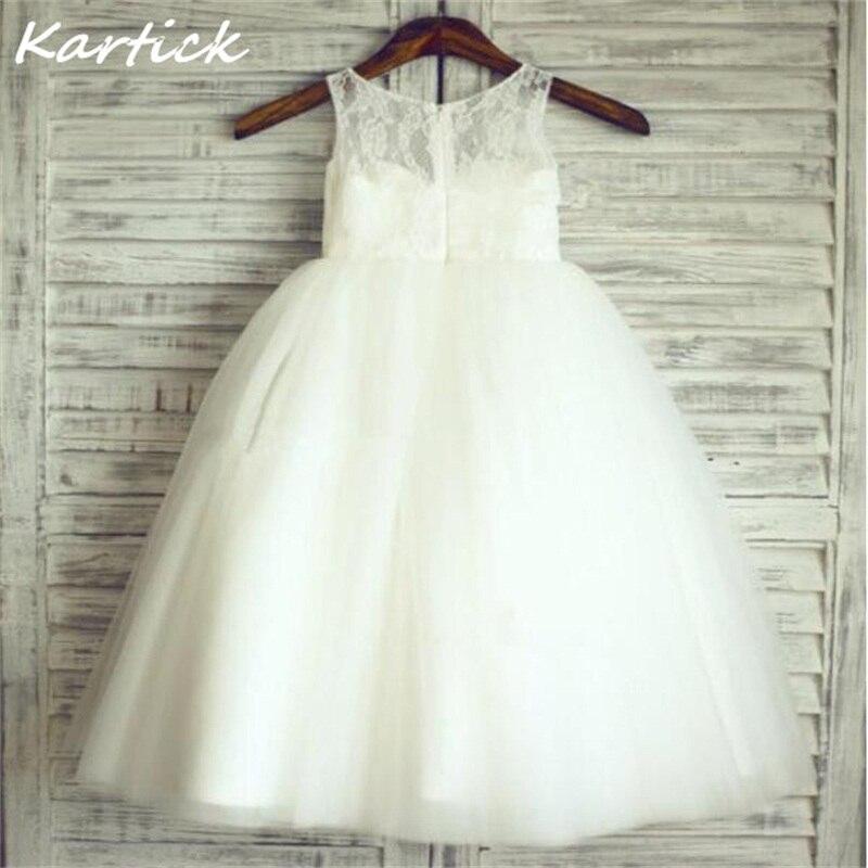 Brand New Flower Girl Dresses For Wedding White/Ivory Real Party Pageant Communion Dress Lovely Little Girls Kids/Children Dress